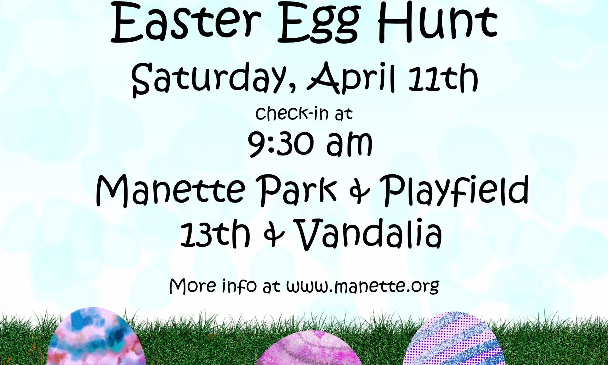 Manette Easter Egg Hunt 2020 flyer